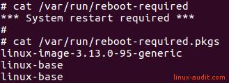Screenshot of /var/run/reboot-required.pkgs
