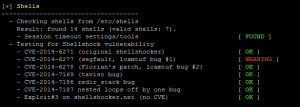 Shellshock tests for bash in auditing tool Lynis