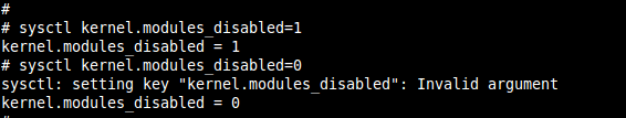 Sysctl showing invalid argument when trying to set value