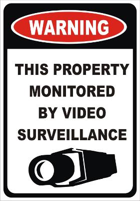 Warning sign of video surveillance